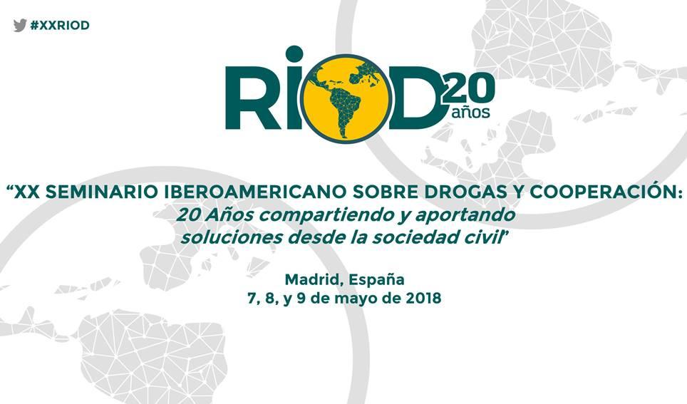 Se presenta el próximo XX Seminario sobre Drogas y Cooperación de la RIOD